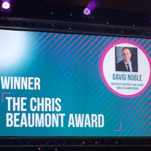 David Noble Winner of Beaumont Award